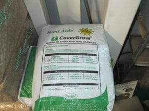 Seed Aide: Special Shady seed mix with mulching granules. 50 lbs per 1000 sq.ft.
